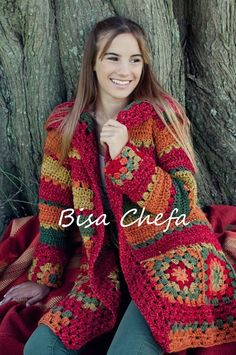 Crochet granny square coat pattern afghans 59 ideas for 2019 Crochet Bolero, Gilet Crochet, Crochet Jacket, Crochet Cardigan, Crochet Granny, Knit Crochet, Shrug Sweater, Crochet Shrugs, Tshirt Garn