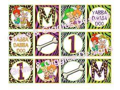 Flintstones Pebbles & Bam Bam Toppers. Flintstones party. Pebbles Party. Pebbles Theme. BamBam Party. BamBam theme.