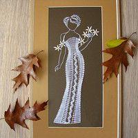 Zboží prodejce Miriam Dušková / Zboží | Fler.cz Bobbin Lacemaking, Lace Art, White Chalk, All Craft, Lace Making, Chalk Art, String Art, Blackwork, Diy And Crafts
