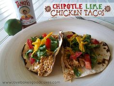 Chipotle Lime Chicken Tacos by lovebakesgoodcakes, via Flickr