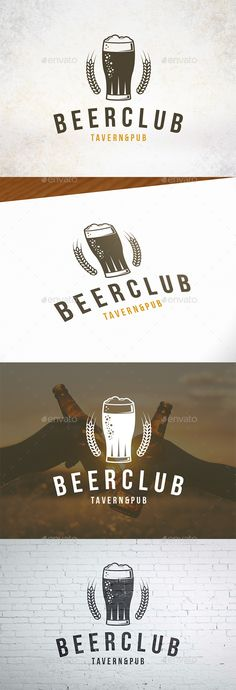 Buy Beer Club Crest Logo by BossTwinsMusic on GraphicRiver. - Three color version: color, greyscale and single color. - The logo is resizable. - You can change text and col. Festival Logo, Beer Festival, Beer Logo Design, Alcohol Bar, Beer Club, Bar Logo, Crest Logo, Geometric Logo, Beer Bar