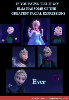 Elsa's facial expressions