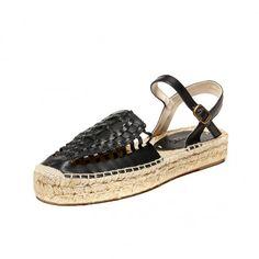 Leather Platform Huarache Sandal