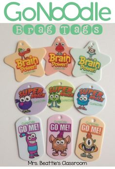 Mrs. Beattie's Classroom: GoNoodle & Brag Tags - Two of My Favorite Things TOGETHER!!