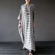 ♥ Material : Cotton Linen♥ Color: As picture♥ Available Size: ,M,L.Size M:Bust(165cm/65''),Waist(132cm/52'')Sleeve length(47cm/18.5''),,<p>Length(120cm/47.3''),</p><br/><p&g..