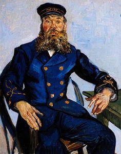 Vincent Van Gogh - Post Impressionism - Arles - Portrait de Joseph Roulin - 1888