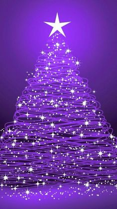 Best Ideas For Christmas Tree Wallpaper Noel Purple Love, All Things Purple, Shades Of Purple, Pink Purple, Purple Stuff, Purple Sparkle, Purple Christmas Tree, Coastal Christmas, Christmas Crafts