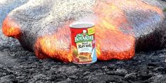 Here's What Happens When You Put Canned Ravioli In 2,000-Degree Lava