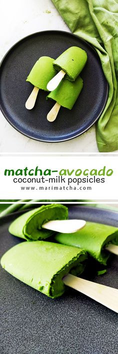 These Matcha-avocado Coconut milk popsicles are so soothing! They're creamy, slightly bitter, but also sweet, which is an experience for the senses! Plus, they are super easy to make!! #love #matcha #macha #抹茶 #お茶 #matchatea #matchalatte #matchalover #matchalovers #matchagreentea #matchaholic #matchaddict #greentea #greentealatte #tea #tealover #health #antioxidants #organic #natural #detox #japan #日本 #matcharecipe #recipe #recipes #antioxidants #healthy