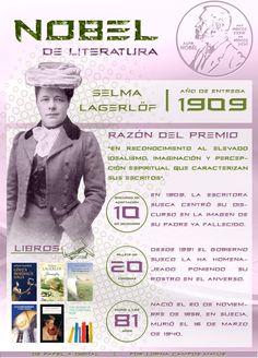 1909: Selma Lagerlöf, por @Lorna Riojas Riojas Campos M.  Ingresa a la web de la imagen para poder acceder a los links de la infografía   De Papel a Digital
