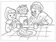 Little Red Riding Hood (Cartoons) – Printable coloring pages Cartoon Coloring Pages, Printable Coloring Pages, Coloring Pages For Kids, Coloring Sheets, Coloring Books, Transfer Paper, Red Riding Hood, Creative Kids, Conte