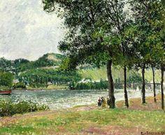 Camille Pissarro - Le Cours-la-Reine à Rouen, temps gris, 1898. Oil on canvas, 21¼ x 25 5/8 in. (54 x 65.1 cm.).