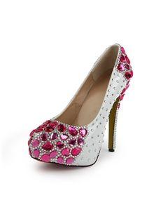 Shinning Rose Crystal High Heel Pumps