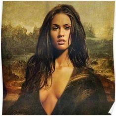 'Megan Fox/Mona Lisa' Poster by Balzac Estilo Khloe Kardashian, Megan Fox Bikini, Megan Fox Hair, Megan Fox Pictures, Belle Silhouette, Up Girl, Gorgeous Women, Marie, Hair