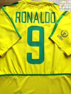 ea6260077be 2002 03 Brazil Home Football Shirt Ronaldo  9 (L)