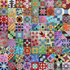 Farmer's Daughter Quilt Mosaic-81 blocks. From starwoodquilter.blogspot.com I LOVE IT!