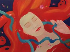 Ethereal Girl no. 2 by Giselle Vidal McMenamin Oil ~ 16 x 20
