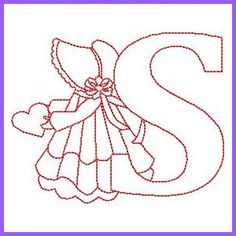 How To Choose An Embroidery Machine - Embroidery Patterns Alphabet Quilt, Embroidery Alphabet, Embroidery Monogram, Embroidery Fonts, Embroidery Applique, Embroidery Ideas, Sue Sunbonnet, Free Machine Embroidery Designs, Parchment Craft