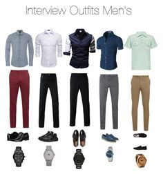 """DIY: Men's Interview Outfits"" by jackie-conway ❤ liked on Polyvore featuring Dolce&Gabbana, wizikorea, BKE, Brioni, Givenchy, BOSS Orange, Incotex, Maison Margiela, Calvin Klein and Vans"