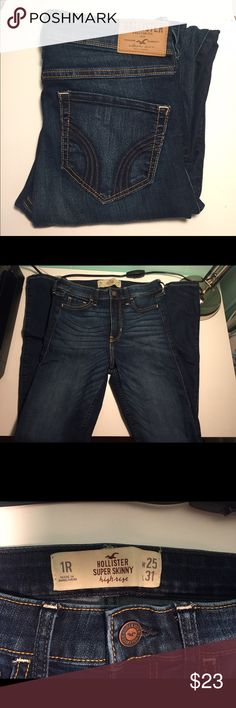 High waisted super skinny Hollister jeans New without tags. Size 1R. Hollister Jeans Skinny