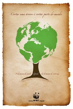 """""""Cutting a tree, is cutting part of the world. The world's harmony depends on the harmony of nature."""" (Source: wwf.org.br)  Share to protect Yasuni, and help maintain the earth's harmony."""