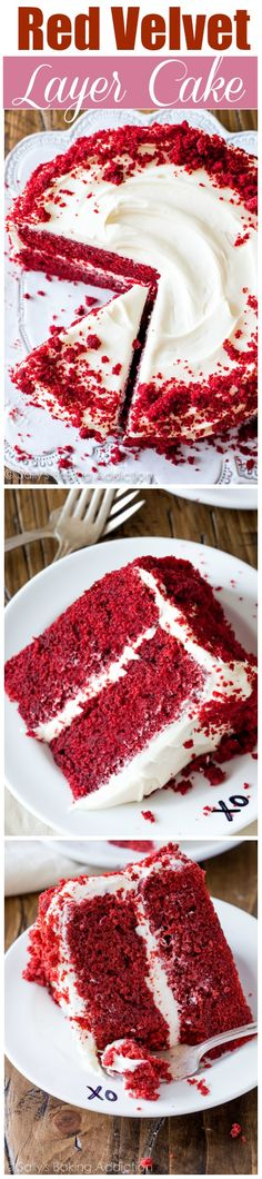 Red Velvet Layer Cake with Cream Cheese Frosting - Learn all my tips, tricks, and techniques to making this classic beauty. This exquisite dessert is SO much more than a vanilla or chocolate cake.
