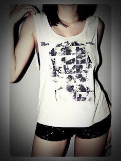 The Kooks Shirt Tank Tops T-Shirt Crop Top Sexy SideBoob Shirts Women Size S, M, L
