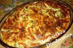 Κολοκυθάκια και ντομάτες ογκρατέν Greek Cooking, Recipe Images, Casserole Recipes, Quiche, Pizza, Cheese, Vegetables, Breakfast, Casseroles