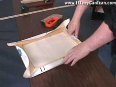 How to stretch canvas - gallery wrap (staples on back)