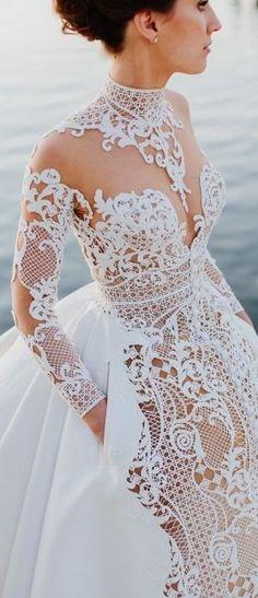 Crochet Stunning Wedding Gown-wedding gowns-crochet-