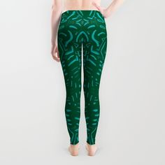 Verde abstracción Leggings by ludodesign | Society6