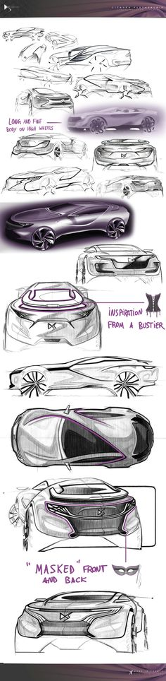Citroën DS Episode - Exterior/Interior Design by Christopher Giroux, via Behance