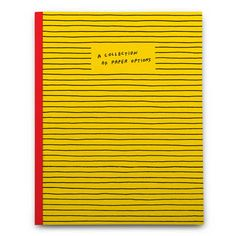 A Collection of Paper Options (Notebook / blank book)