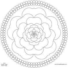 Pearls and roses mandala for June to print and color- JPG version