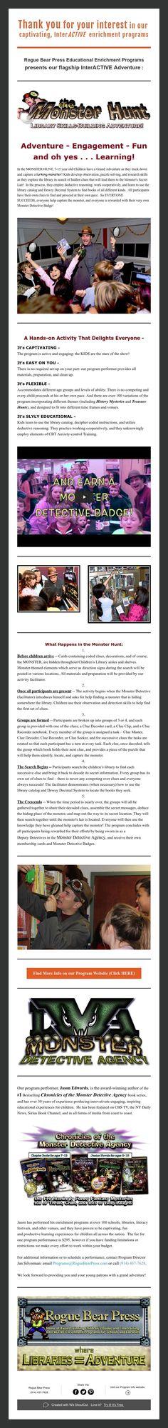 MONSTER HUNT - Program Info
