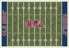 Ole Miss Rebels Home Field Rug in Ole Miss Rebels (End Zone Color: Blue) from ACWG