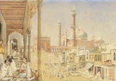 An Artist's Impression of Jama Masjid in 1852