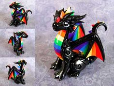 Rainbow Dragon by DragonsAndBeasties.deviantart.com