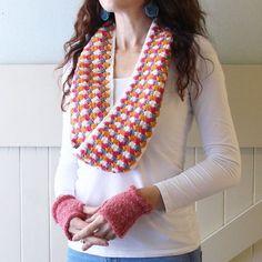 granny spike crochet stitch cowl free pattern