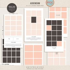 Addendum Collage Templates by paislee press | for pocket and hybrid scrapbooking | great for big events and when you want to showcase a lot of photos