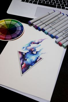 Galaxy tattoo Triangle design