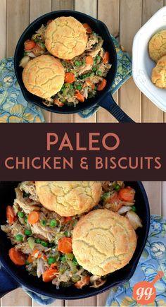 Paleo Chicken and Biscuits (grain-free, dairy-free, paleo)