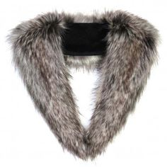 These are perfect for my english winter coats!! Silver Fox Faux Fur Collar by Helen Moore