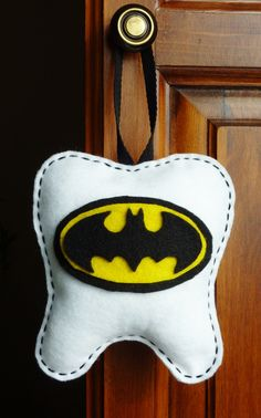 Handmade Personalized Batman Logo Inspired Tooth Fairy Pillow