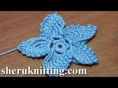 How To Make Crochet Star Flower Tutorial 18 Freeform Crochet, Irish Crochet, Crochet Motif, Crochet Stitches, Crochet Lace, Crochet Flower Tutorial, Crochet Flower Patterns, Crochet Flowers, Borboleta Crochet