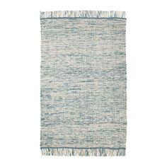 KÖPENHAMN Rug, flatwoven, handmade blue-green 133x195 cm handmade blue-green