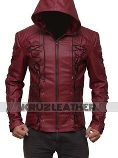 online shopping for Mens Hooded Leather Jacket - Red Costume Jacket Men from top store. See new offer for Mens Hooded Leather Jacket - Red Costume Jacket Men Leather Jacket With Hood, Faux Leather Jackets, Leather Men, Cowhide Leather, Lambskin Leather, Real Leather, Leather Hoodie, Custom Leather, Moda Geek