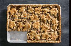Holiday recipe: America's Test Kitchen's Pear-Butterscotch Slab Pie – Santa Cruz Sentinel Pie Recipes, Fall Recipes, Holiday Recipes, Dessert Recipes, Desserts, Christmas Recipes, Butterscotch Sauce Recipes, Butterscotch Pie, Pie Dough Recipe