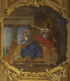 Minerve considérant l'ouvrage d'Arachné de Ubelesqui Alexandre -