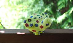 Lucky elephant ~ Summer elephant ~Animal sculptures ~ Yellow Elephant ~ Rainbow elephant ~ Gift for her. Made from salt dough. Free Shipping